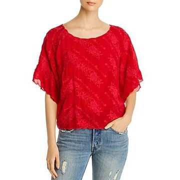 Johnny Was Tierra Floral Embroidered Top
