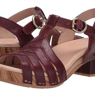Dansko Mara (Mahogany Burnished Calf) Women's Shoes