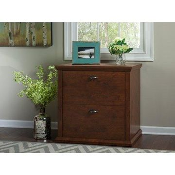 Bush Furniture Yorktown Lateral File Cabinet in Antique Cherry