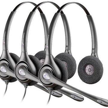 Plantronics Supra Plus HW261N-3pack Dual Earpiece Wideband Headset