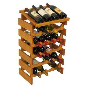 Wooden Mallet 24-Bottle Dakota Wine Rack With Display Top