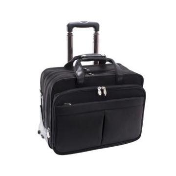 Mcklein Roosevelt Patented Detachable Wheeled Laptop Briefcase
