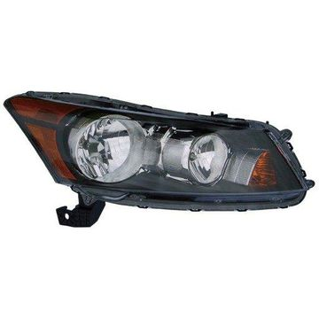 Headlight Depo - 08-12 Honda Accord-Sedan Head Lamp Assembly RIGHT HAND / PASSENGER SIDE NSF Certified