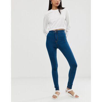 Noisy May high waist skinny jean in blue