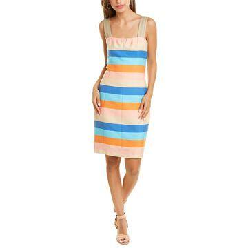 Akris Punto Striped Silk-Blend Sheath Dress