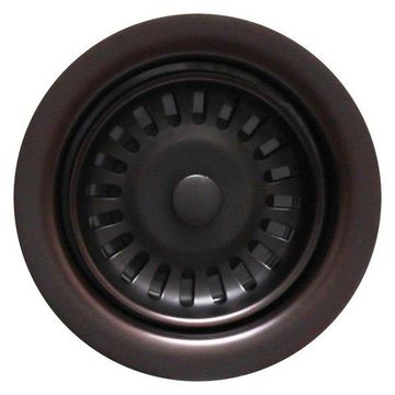 Whitehaus WH202-ORB 3 1/2'' Disposer / Deep Fireclay Sink In Oil Rubbed Bronze