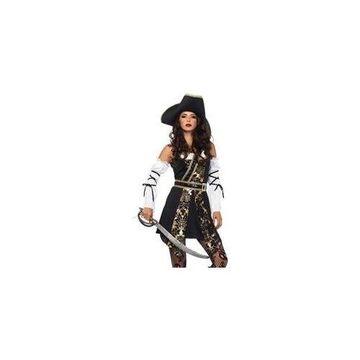 Black Sea Buccaneer Costume 85563 Leg Avenue Black/Gold Medium