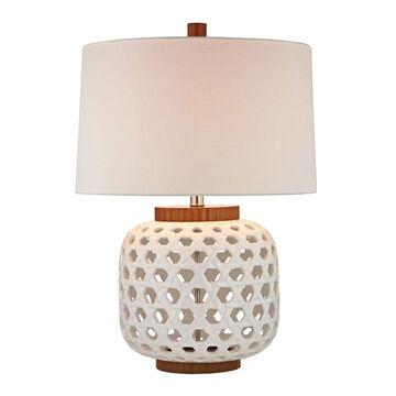Dimond Lighting Ceramic/ Wood 1-light Cap and Base Table Lamp