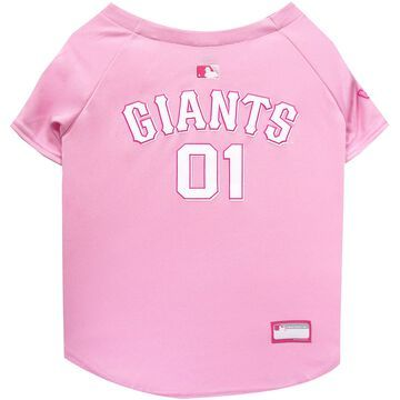 Pets First Pink San Francisco Giants Jersey, Small