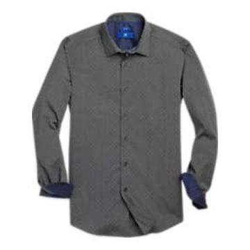 Egara Charcoal Dot Sport Shirt