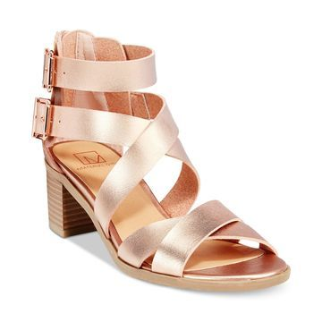 Danee Block Heel City Sandals, Created for Macy's