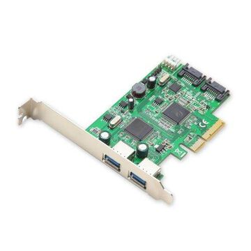 Syba USB 3.0 2-Port and SATA 6Gbps 2-Port PCI-e x4 2.0 Card with Low Profile Bracket SD-PEX50055