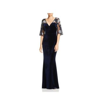 Aidan Mattox Womens Evening Dress Velvet Sequined