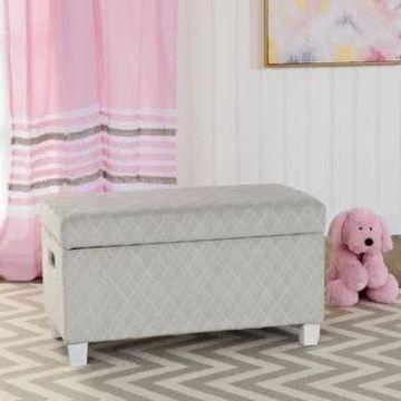 HomePop Juvenile Storage Bench (Grey)