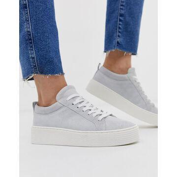 Vero Moda leather sneakers-White