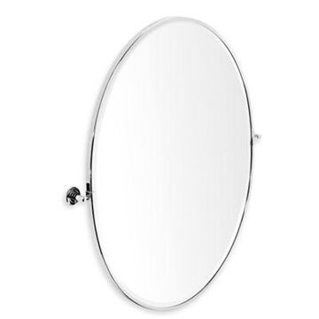 Gatco Latitude II 28.13-Inch x 33-Inch Framed Oval Mirror in Chrome