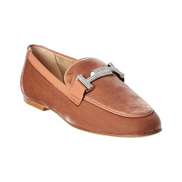 TodS Micro-Rhinestone Suede Moccasin