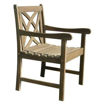 Vifah Renaissance Outdoor Arm Chair in Natural