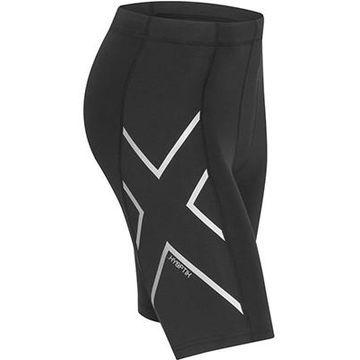 Men's 2XU Hyoptik Compression Shorts - Color: Black/Grey - Size: L