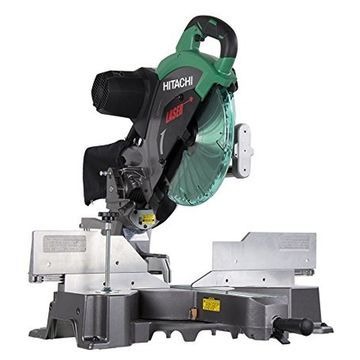 Hitachi C12RSH2 15-Amp 12-Inch Dual Bevel Sliding Compound Miter Saw with Las...