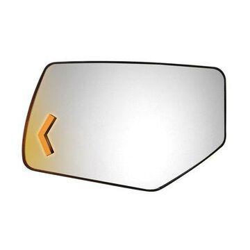 44284 - Fit System Driver Side Heated Mirror Glass w/ backing plate, Chevrolet Suburban, Tahoe, GMC Yukon 15-18, w/ LED Arrow Signal, w/ o Blind Spot 4 7/ 8