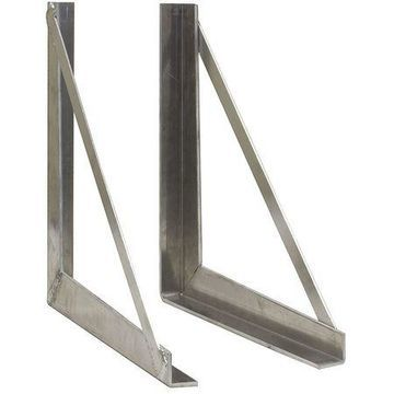 BUYERS PRODUCTS 1701030 Mounting Bracket,18 in. L,Aluminum,Silvr