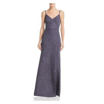 ELIZA J Gray Spaghetti Strap Full-Length Dress 4