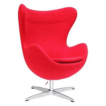 Fine Mod Imports Inner Chair Fabric, Red