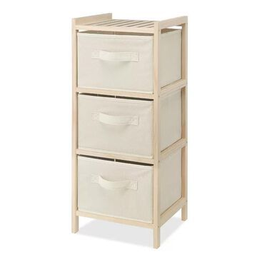 Whitmor 3-Drawer Wood Chest, Brown