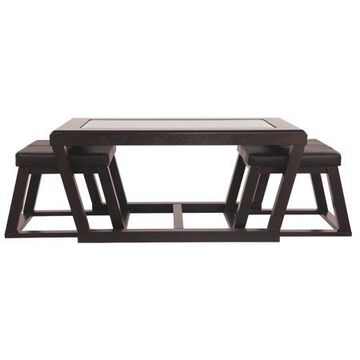 Signature Design by Ashley Kelton Cocktail Table with 2 Stools