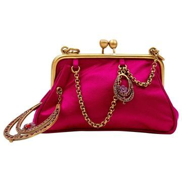 John Galliano Pink Cloth Clutch bags