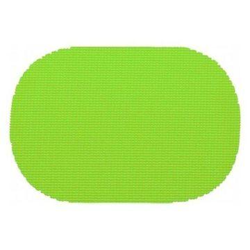 Kraftware Fishnet Oval Placemat Doz.en, Lime Green