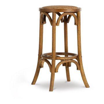 Linon Rae Vintage Inspired Backless Bar Stool, Brown