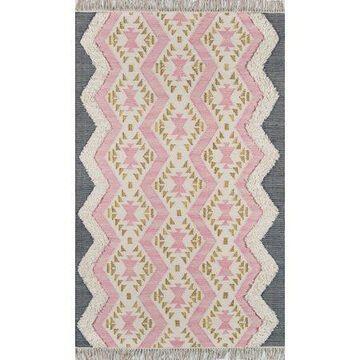 Novogratz by Momeni Indio Beverly Wool Hand Made Pink Area Rug 3' X 5'