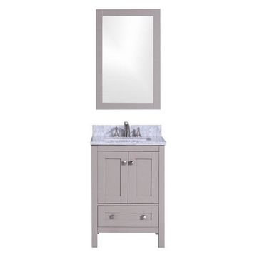 Legion Furniture Legion Furniture Single Vanity w/ Mirror Set, Warm Gr