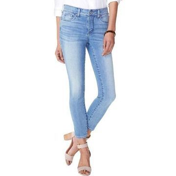 NYDJ Womens Alina Tummy Control Whisker Wash Ankle Jeans