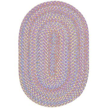 PT15R120X120 10 ft. Playtime Violet & Multicolor Round Rug