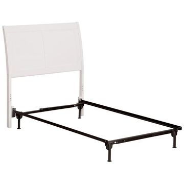 Portland Headboard TW with Metal Bed Frame White
