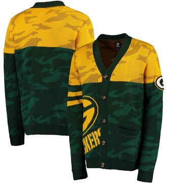 Green Bay Packers Klew Camouflage Cardigan - Green