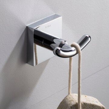KRAUS Ventus Bathroom Robe and Towel Double Hook, Chrome Finish