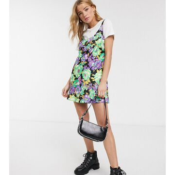 Reclaimed Vintage inspired cami mini dress in floral-Multi