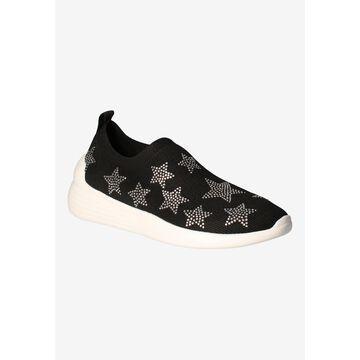 Women's Geana Sneakers by J. Renee in Black Silver Star (Size 11 M)