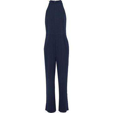 Ganni Clark Pinstriped Crepe Jumpsuit