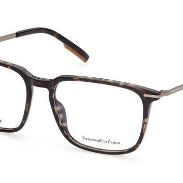Ermenegildo Zegna EZ5216 052 Men's Glasses Tortoiseshell Size 55 - Free Lenses - HSA/FSA Insurance - Blue Light Block Available