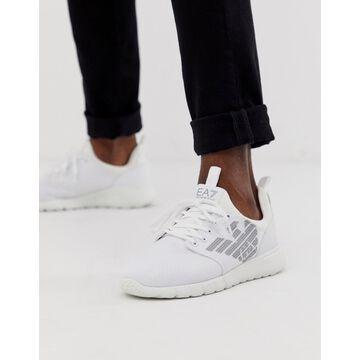 Armani EA7 simple racer sneakers in white