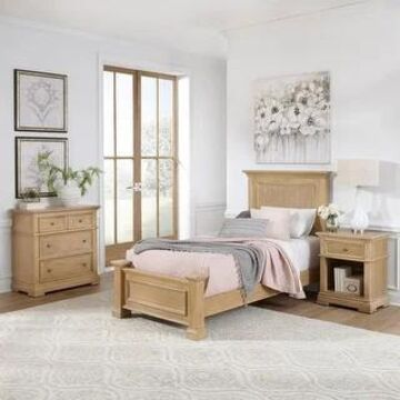 Manor House Twin Bed, Night Stand & Chest by Home Styles (3 Piece - Twin - Natural)