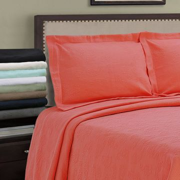 Superior Jacquard Matelasse Paisley Cotton Bedspread Set