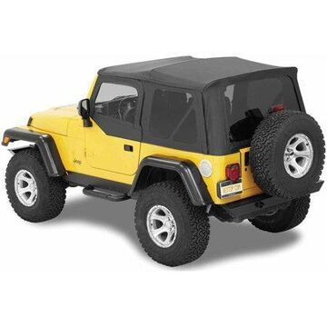 Bestop 54720-15 Jeep Wrangler 2-Door with Tinted Windows Supertop Nx, Replacement Top, Black Denim