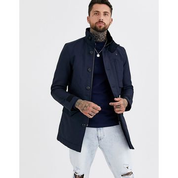 G-Star Scutar utility padded trench coat in blue