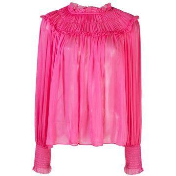 Arabella ruffle neck blouse